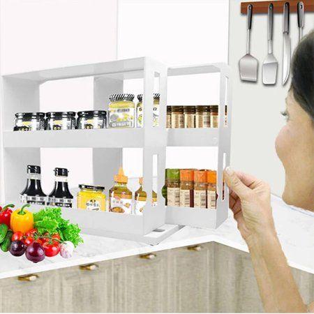 Storage Rack Spice Organiser, Spice Rack Organizer For Kitchen Cabinets