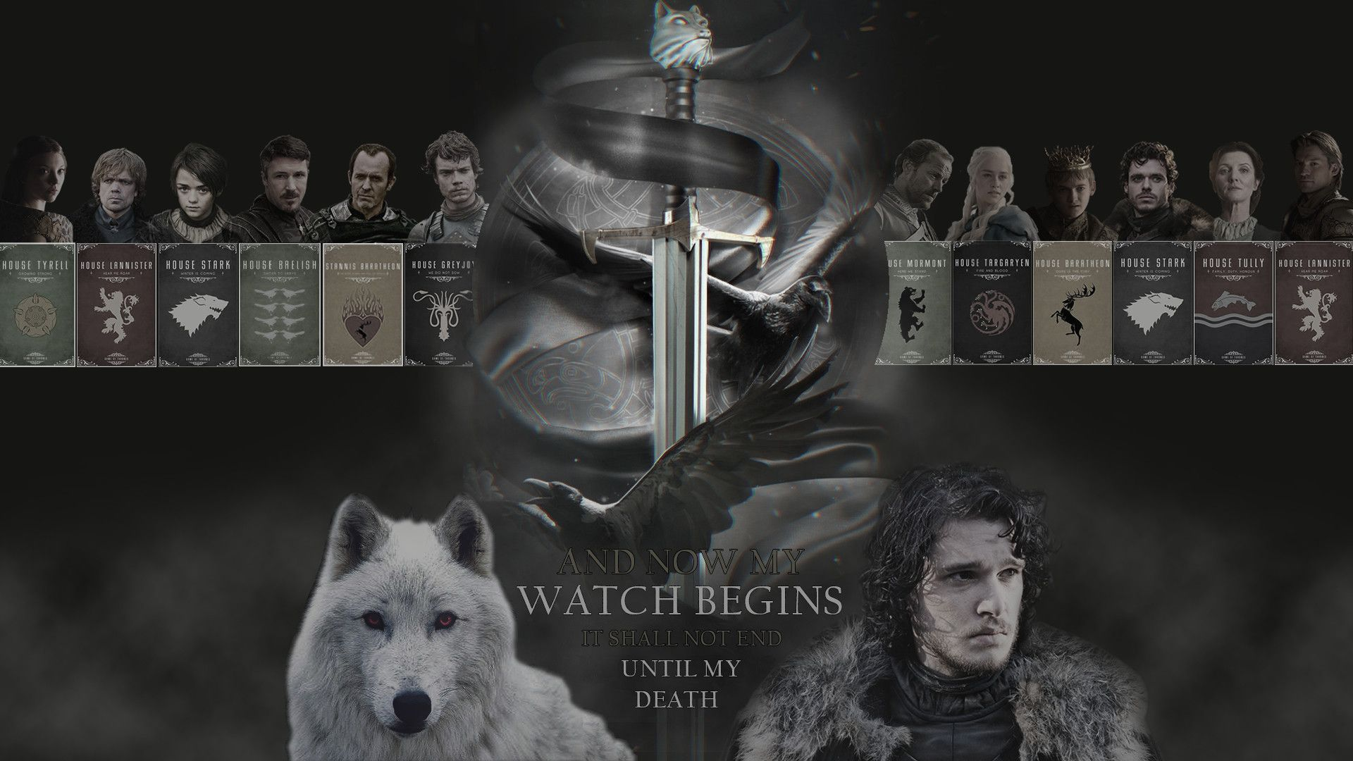 Game Of Thrones Wallpaper My First Fan Made Game Of Thrones Wallpaper 1920x1080 Includes