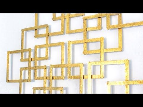 How To Easily Make Faux Metal Looking Wall Decor - YouTube | Wall ...