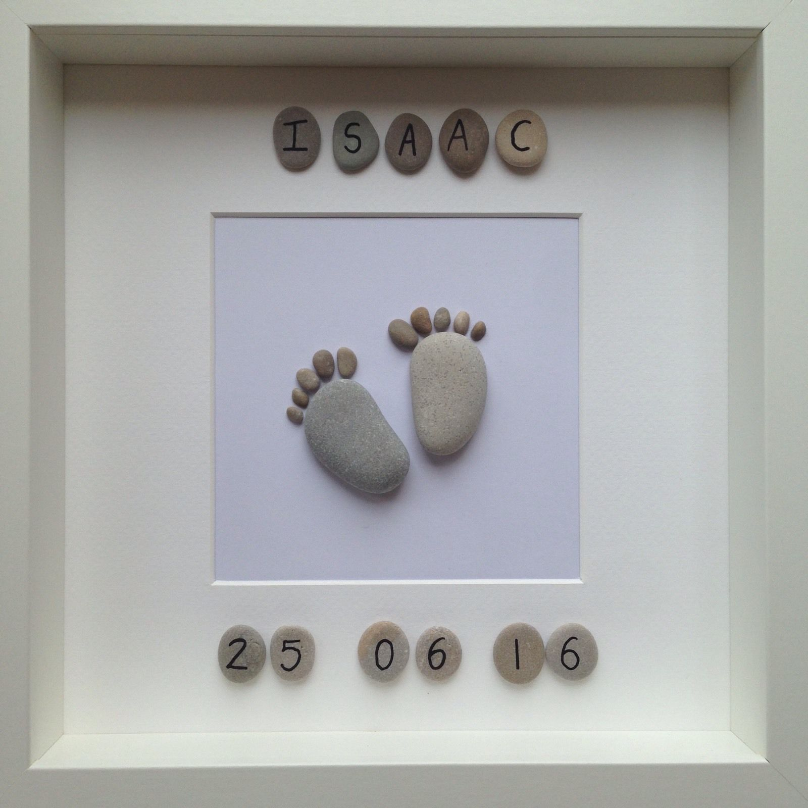 Handmade bespoke pebble art personalised baby gift photo handmade bespoke pebble art personalised baby gift in home furniture diy negle Gallery