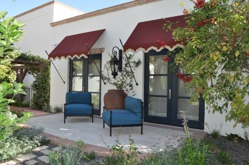 French Mediterranean Style Awning Details Exteriors By Chad