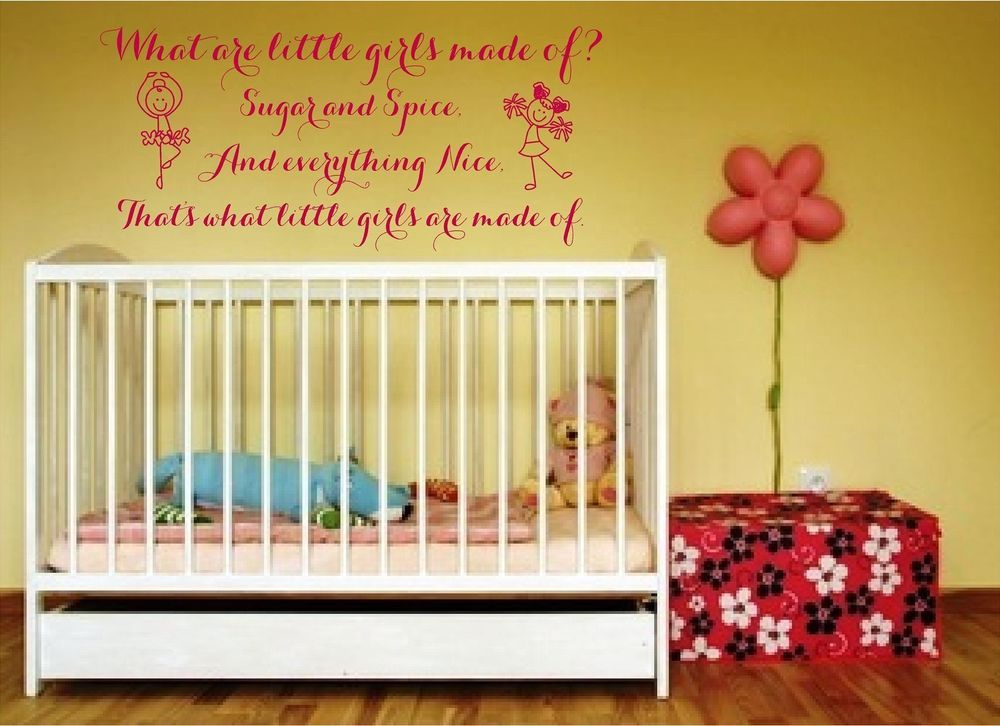 What Are Little Girls Made Of Nursery Rhyme Vinyl wall art decal ...