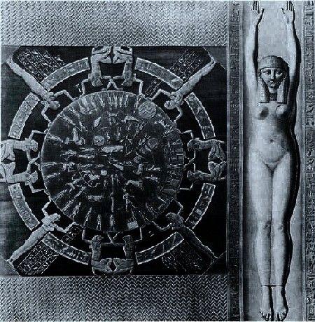 Zodiac Circle of Denderah - Goddess Hathor