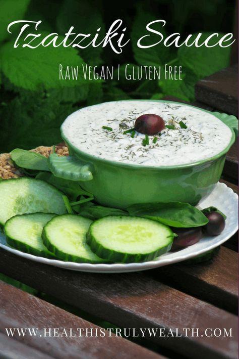 Raw vegan tzatziki sauce recipe tzatziki sauce tzatziki and raw raw vegan tzatziki sauce forumfinder Image collections