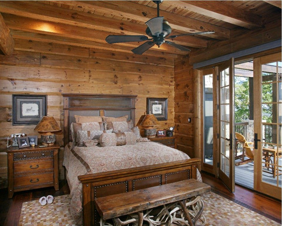 Rustikale Schlafzimmer Designs Block Brown Holzernen Stander