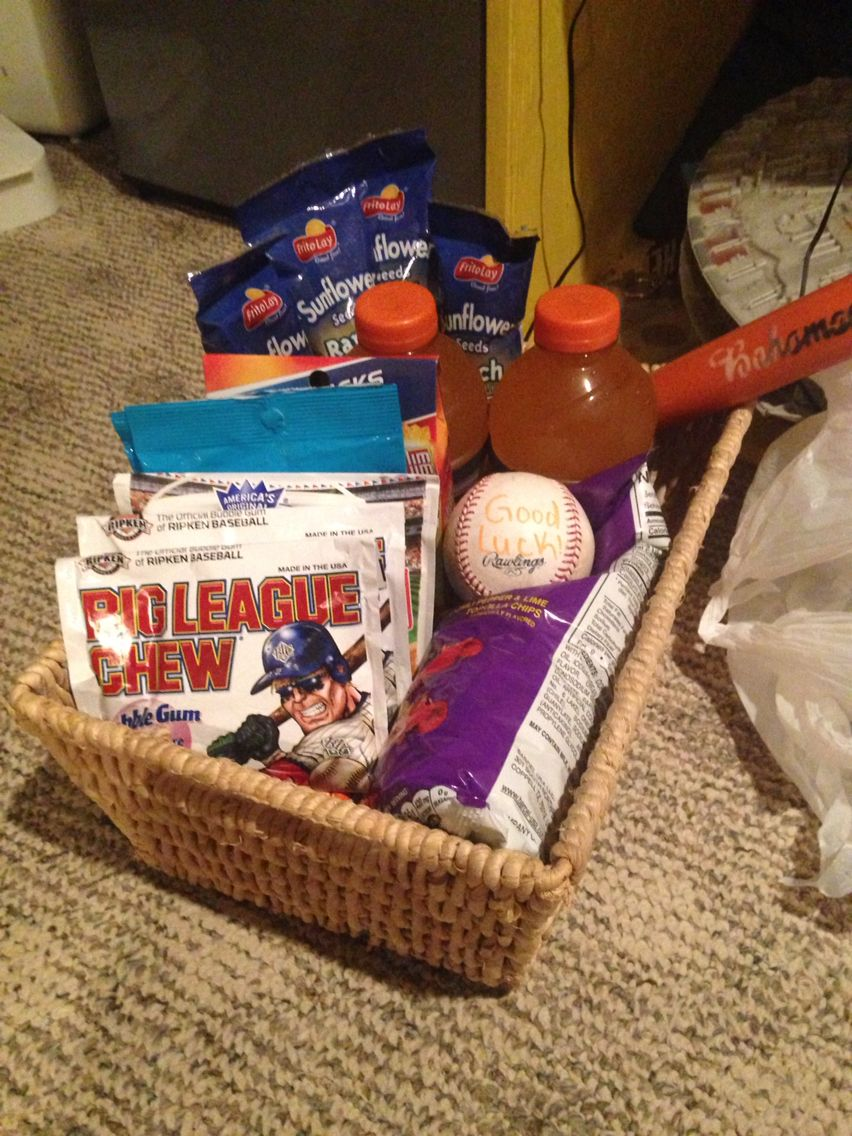 Baseball good luck basket things i love pinterest gift good luck basket for baseball negle Gallery
