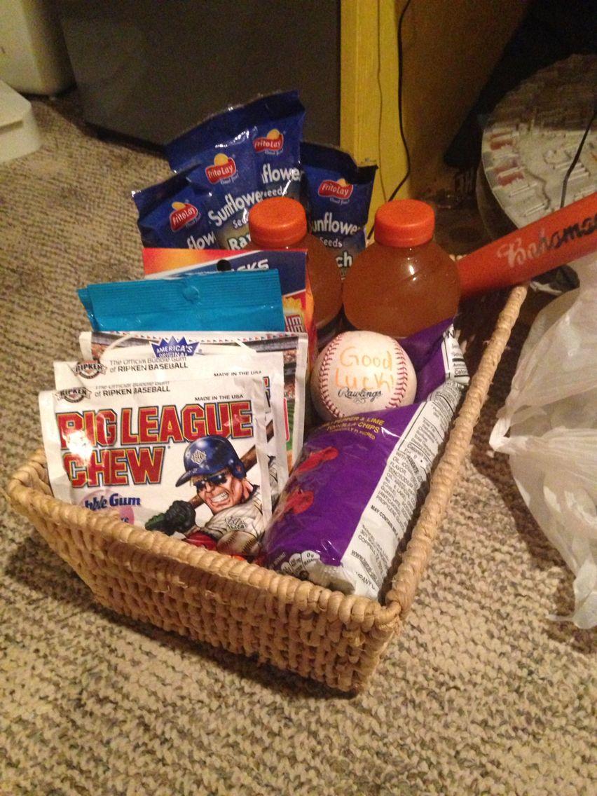 Good Luck Basket For Baseball Baseball Gift Basket Boys