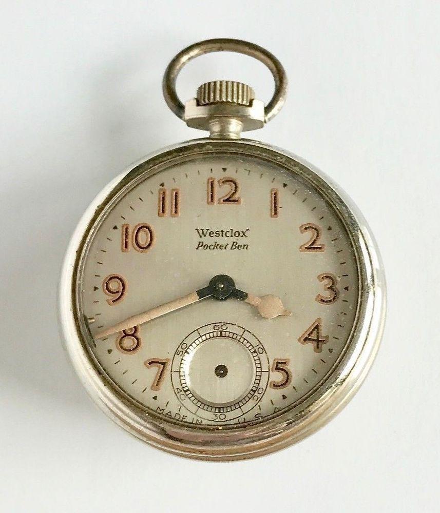 fd71de4a0 Vintage Westclox Pocket Ben Radium Pocket Watch Face/Case Parts Repair  Steampunk #Westclox