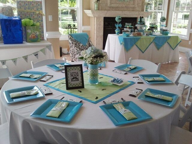Table Set Up, Lil Man Shower, Mustache Bash, Baby Boy Shower