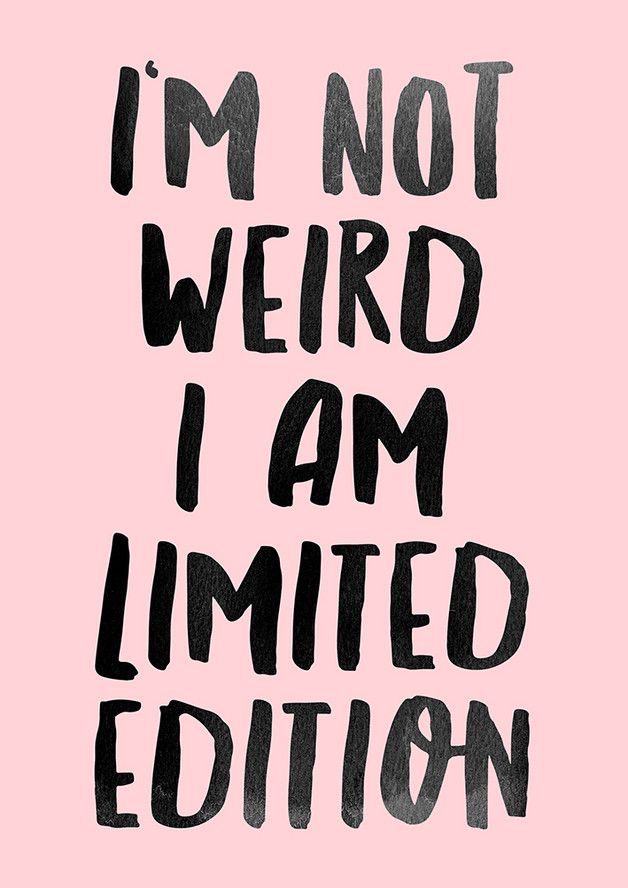 I am limited edition Poster Print DIN A4 rose