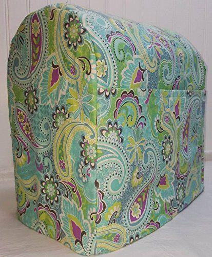 Teal Green Paisley Kitchenaid Lift Bowl Stand Mixer Cover