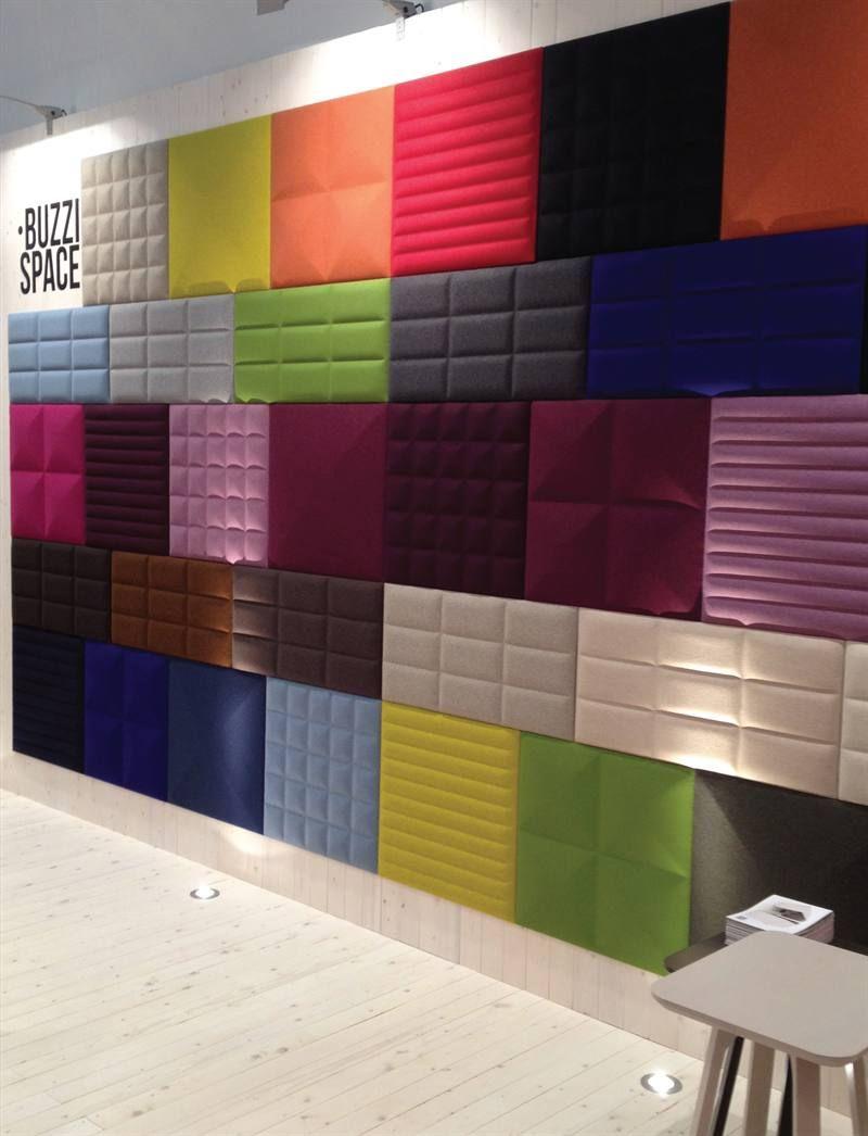 buzzispace batibouw buzziskin 3d tiles 5 ff e pinterest acoustique panneaux. Black Bedroom Furniture Sets. Home Design Ideas
