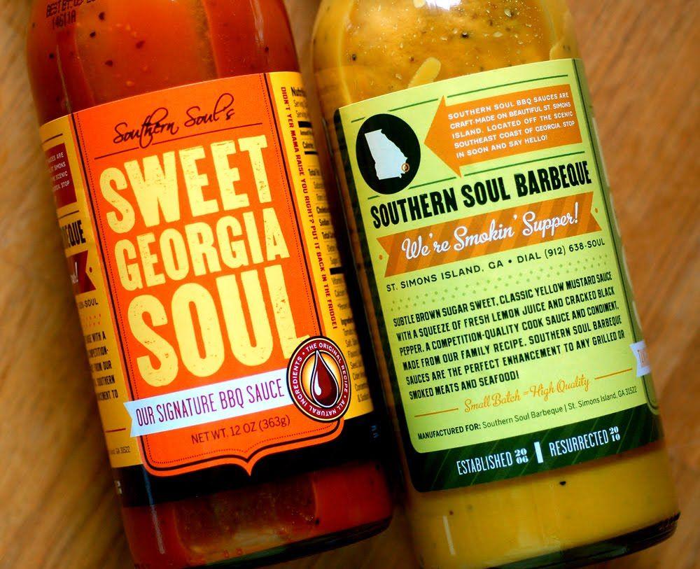 Green Olive Media Barbecue Sauce Label Design Southern Soul Label Design Spice Labels Food Labels,Cat Colors Blue