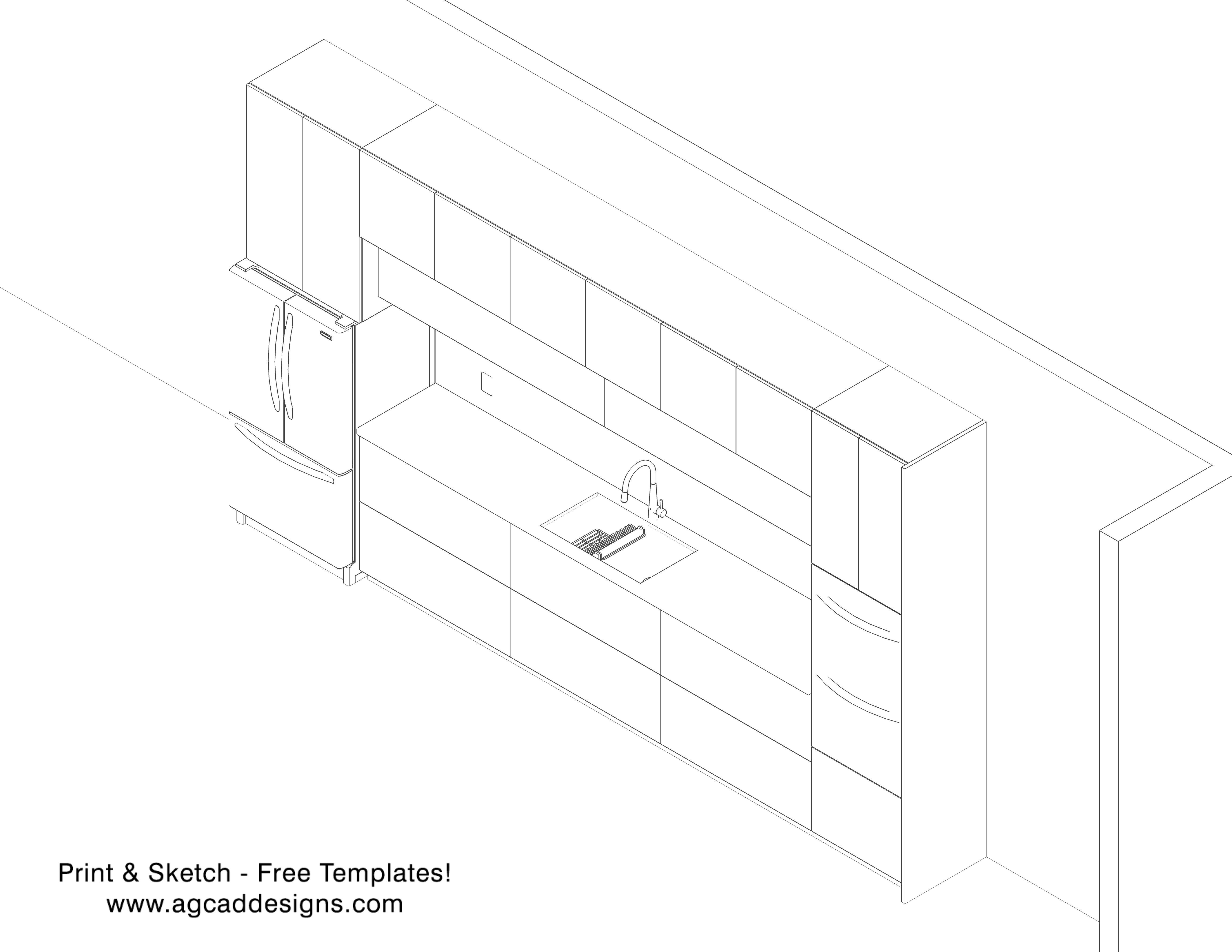 Kitchen cabinet Print & Sketch free interior design templates ...