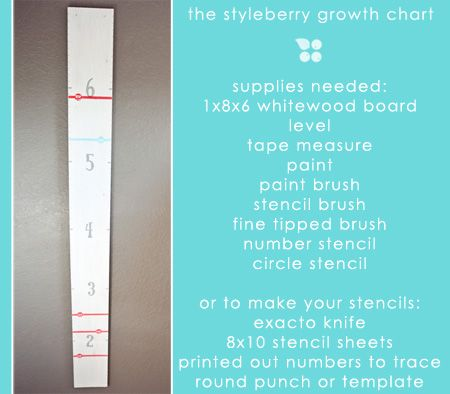 Adorable diy growth chart today by @miss shawna on The Creative - baby growth chart template