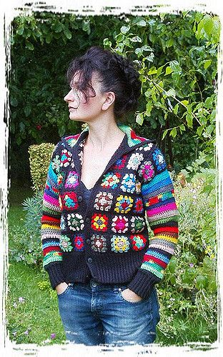 Granny Square Jacket by Shelle Hendrix