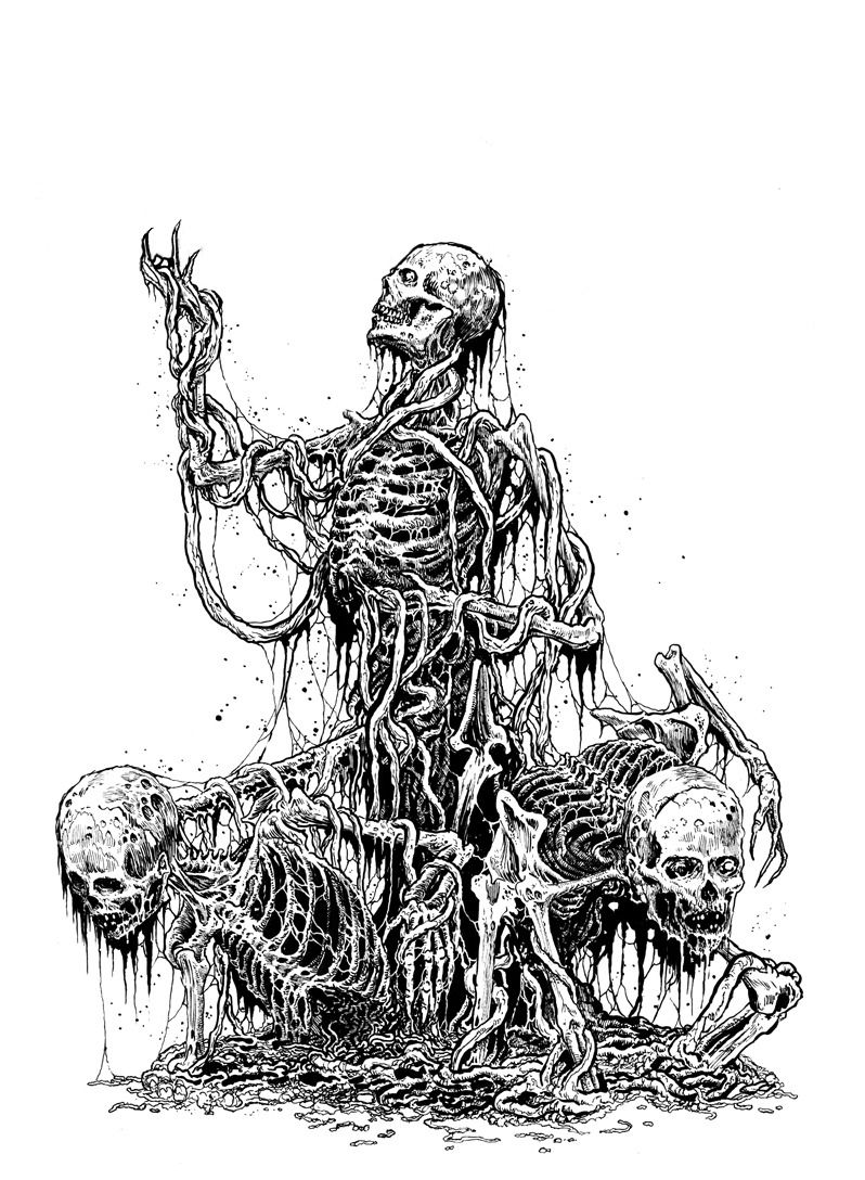 By Mark Riddick Black Metal Art Satanic Art Macabre Art