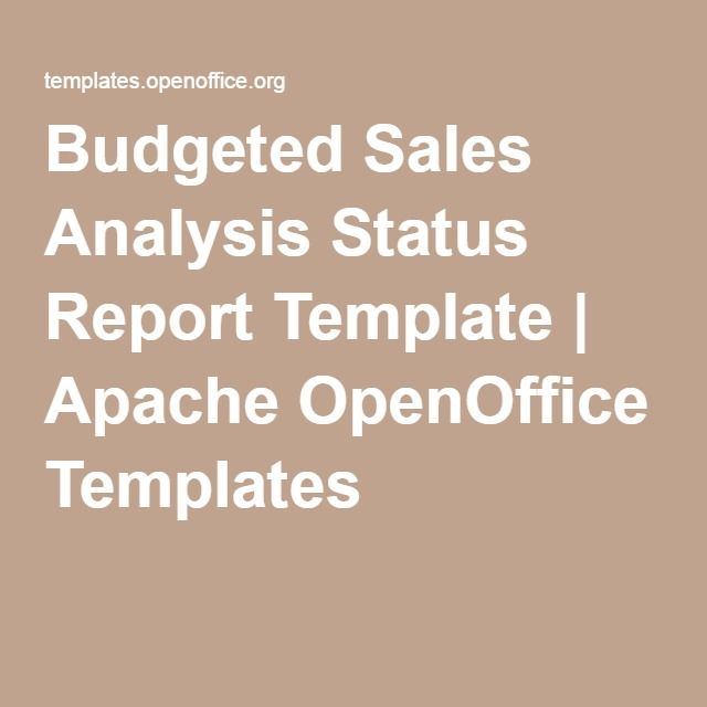 Budgeted Sales Analysis Status Report Template  Apache Openoffice