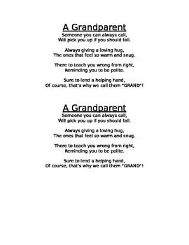 a poem for grandparents day