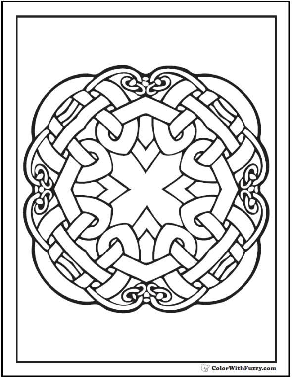 Quad Celtic Knot Designs Four Part Gaelic Pattern