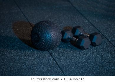 Fitness Bodybuilding Concept Background Ball Dumbbell Stock Photo (Edit Now) 1554966737 -  Fitness o...