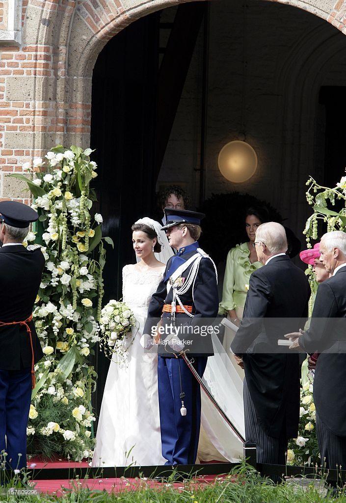 The Wedding Of Prince Pieter-Christiaan & Anita Van Eijk At The St. Jeroenskerk Church In Noordwijk.