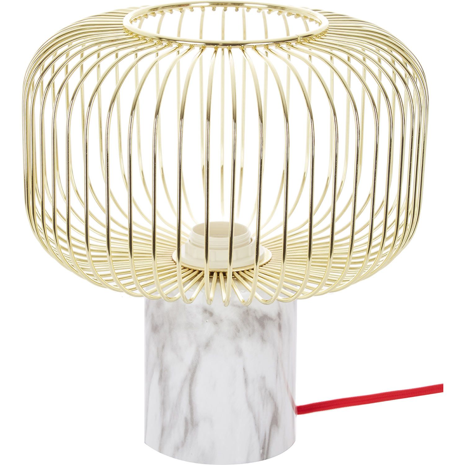 Wired & Marble Effect Lamp - TK Maxx