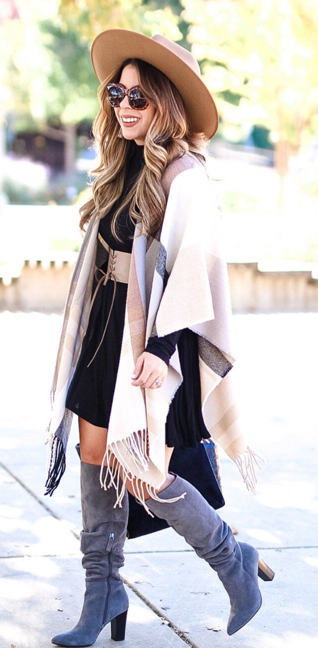 basic fall outfits to inspire you white cardigan brown and gray