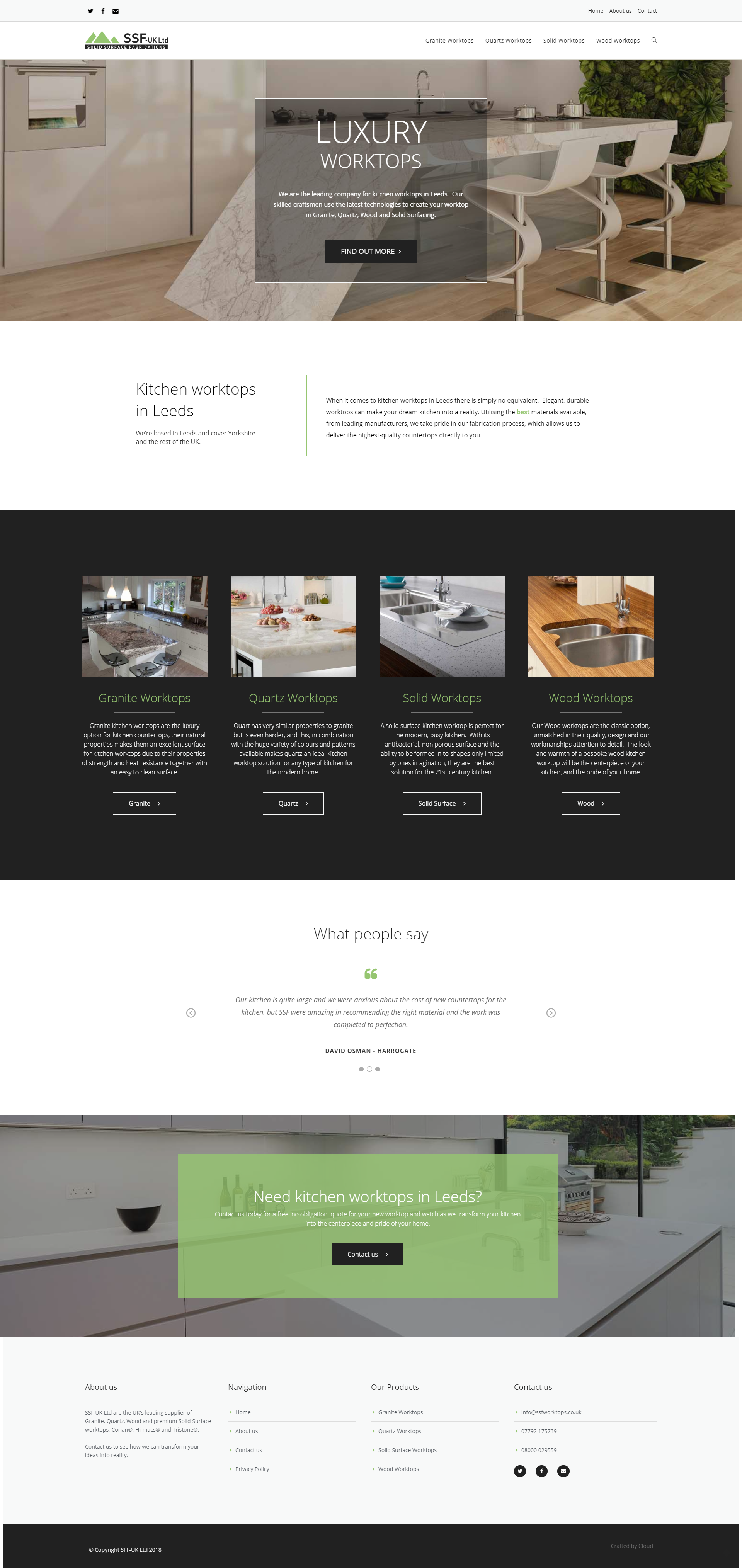 Newly Created Website For Ssf Worktops In Leeds Material Design Site With Great User Experience Fo Portfolio Website Design Site Design Latest Website Designs