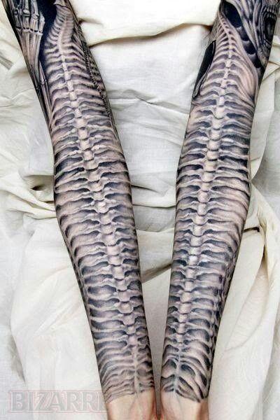 61a344326f669 HR Giger inspired tattoo … | Tattoo Imagination | Giger…