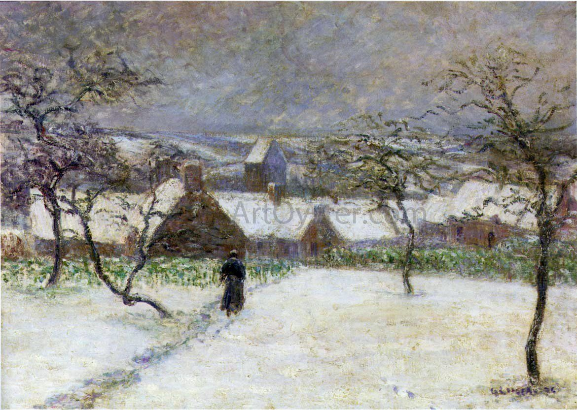 Path In The Snow By Gustave Loiseau Hand Painted Oil Painting
