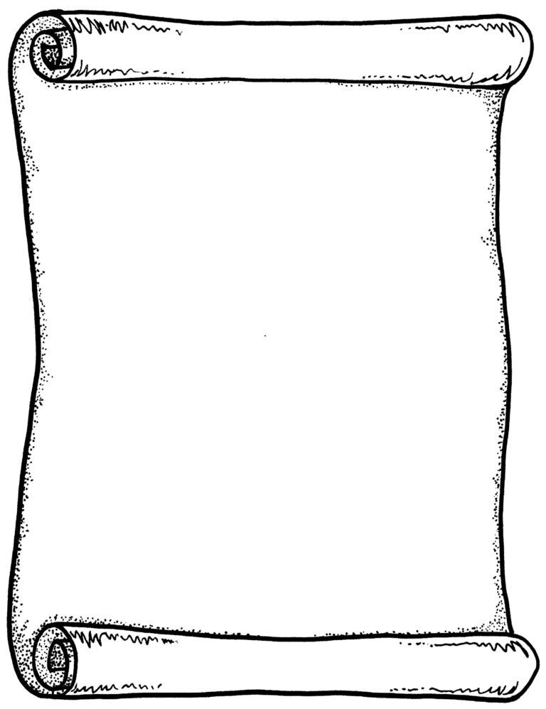 Printable Blank Scroll Template Writing Paper Template Scroll Templates Writing Templates