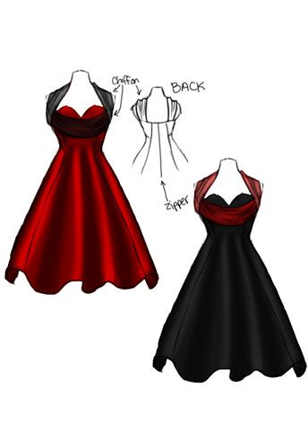 Rockabilly pin up dress