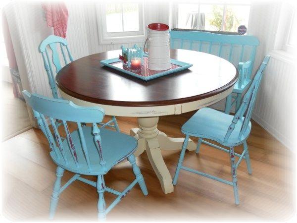 flea market style designnew cottage chic kitchen chairs