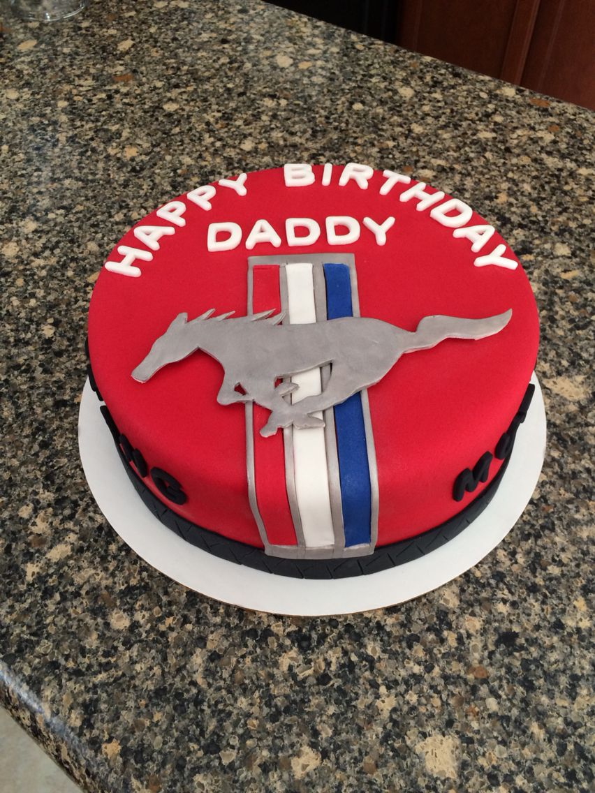 Ford Mustang Birthday Cake My Cake Creations Pinterest