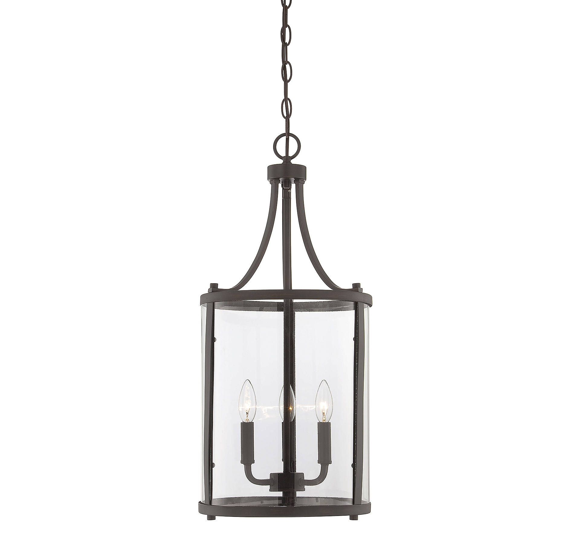 savoy pendant inch cfm glass finish in black crystal magnifying lighting item clear house light wide birdcage large forged image shown and