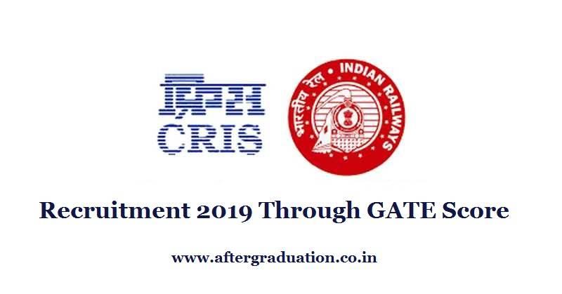 Cris Recruitment 2019 Through Gate Score For Ase Posts Aftergraduation Engineering Jobs Recruitment Job Opening