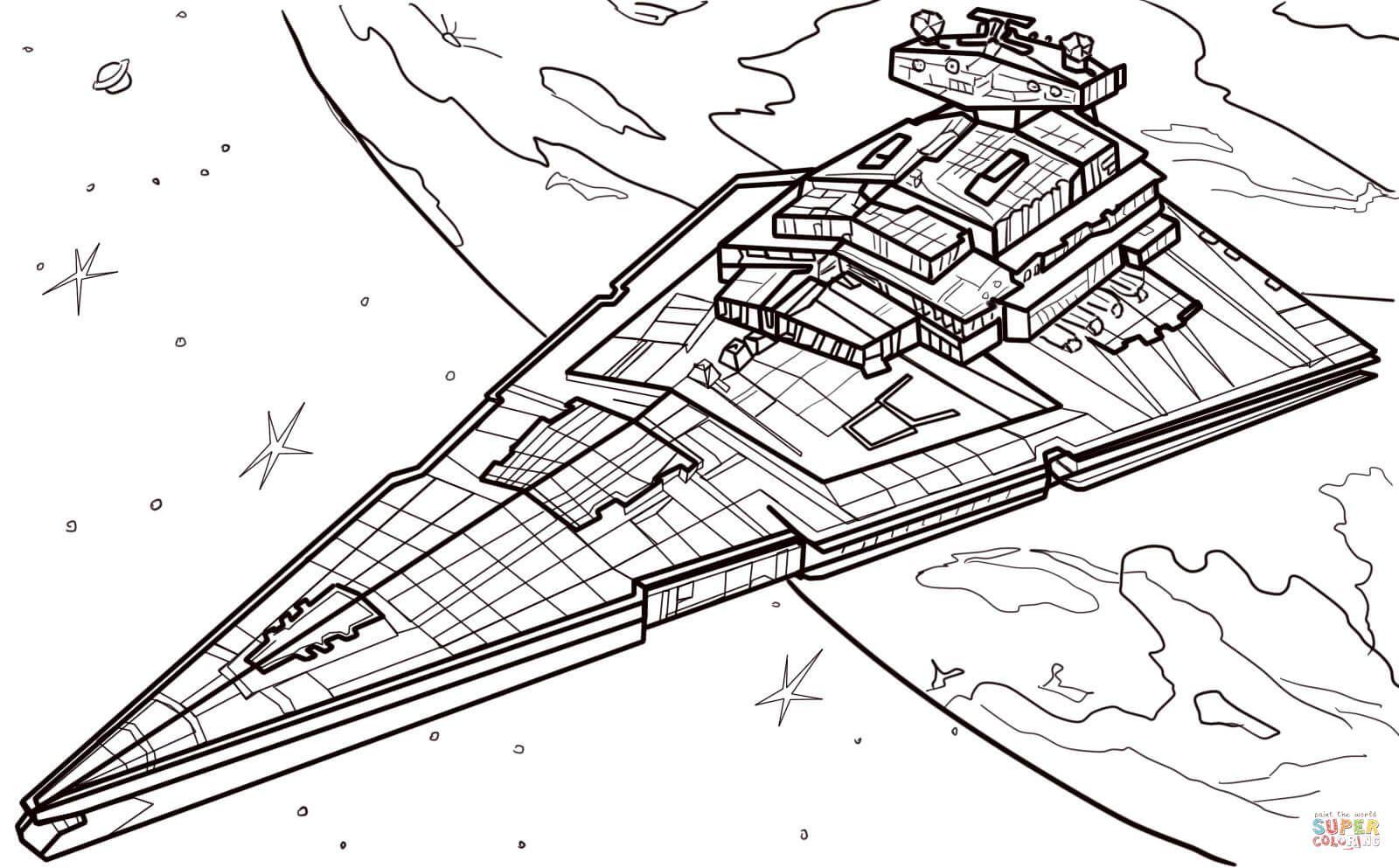 Star Destroyer Super Coloring Star Wars Stencil Star Wars