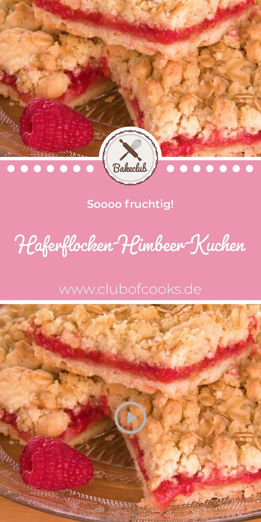 Haferflocken-Himbeer-Kuchen | BakeClub