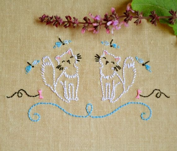 Embroidery Pattern Cat Pdf Pattern Hand Embroidery Patterns By