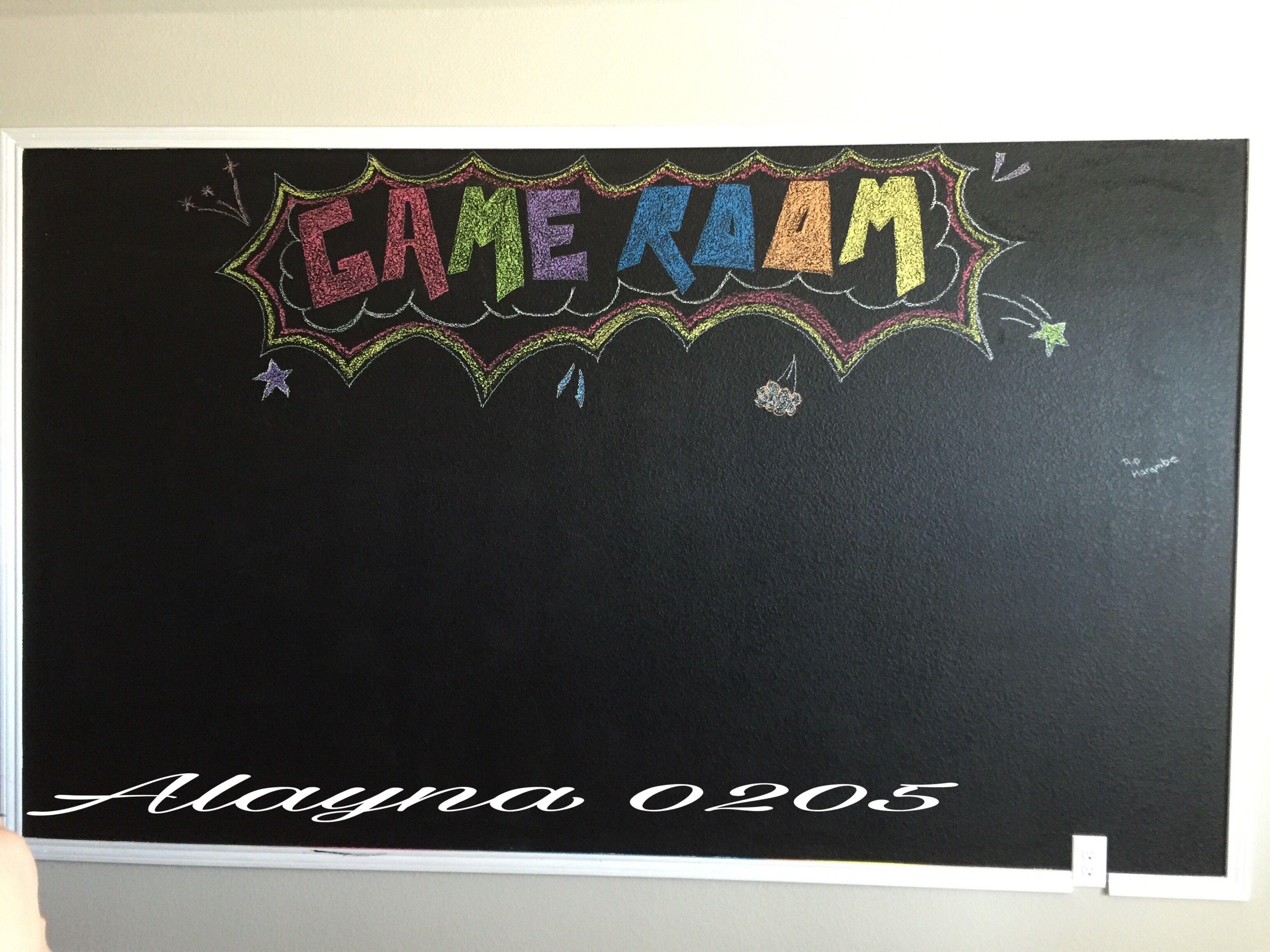 Chalkboard Paint Wall Idea Game Room Ideas Valspar Chalkboard Paint