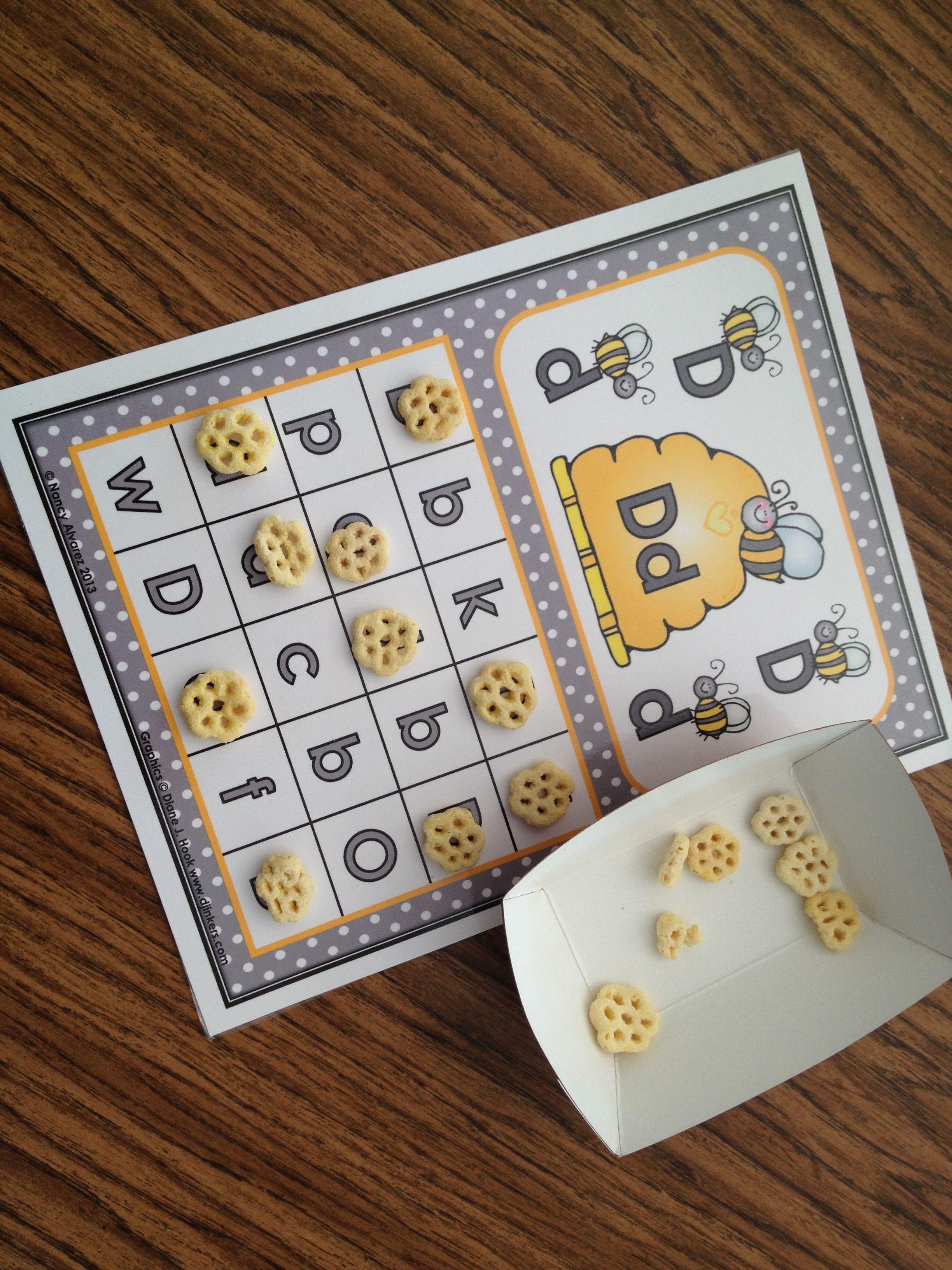 Honeycomb Abc Matching Bingo
