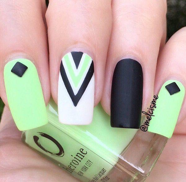 45 Chevron Nail Art Ideas | Diseños de uñas, Manicuras y Uñas pintadas
