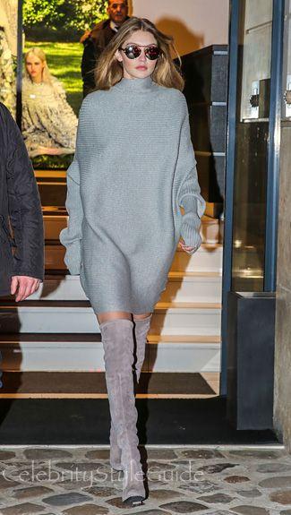 SHOP Designers Remix Ribly Drape Knitted Dress As Seen On Gigi Hadid ... 11531fac4