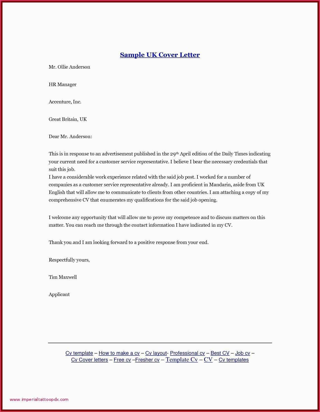 Download Best Of Free Job Cover Letter lettersample