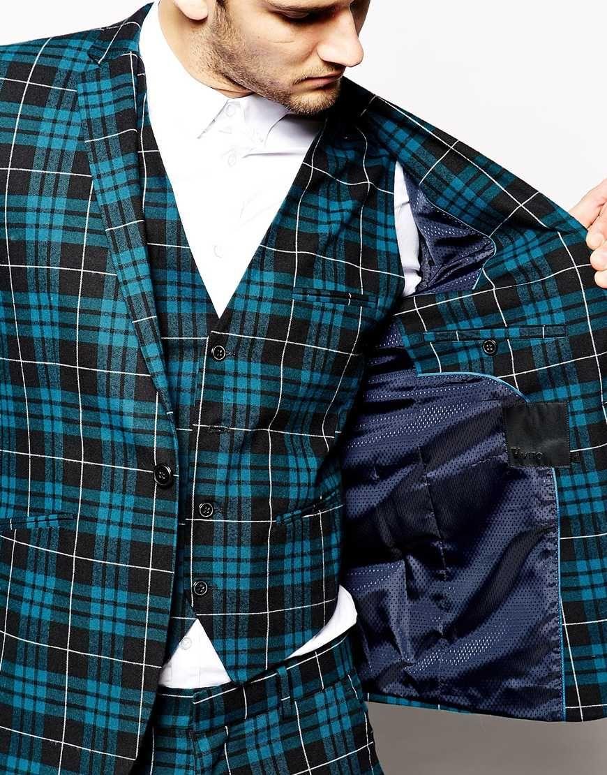 Image 3 of Vito Tartan Suit Jacket In Slim Fit | rock on ...