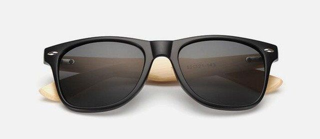 DESIGNER CLASSIC BLACK SUNGLASSES WOOD WOODEN LOOK MIRROR BIG UV400 MENS LADIES
