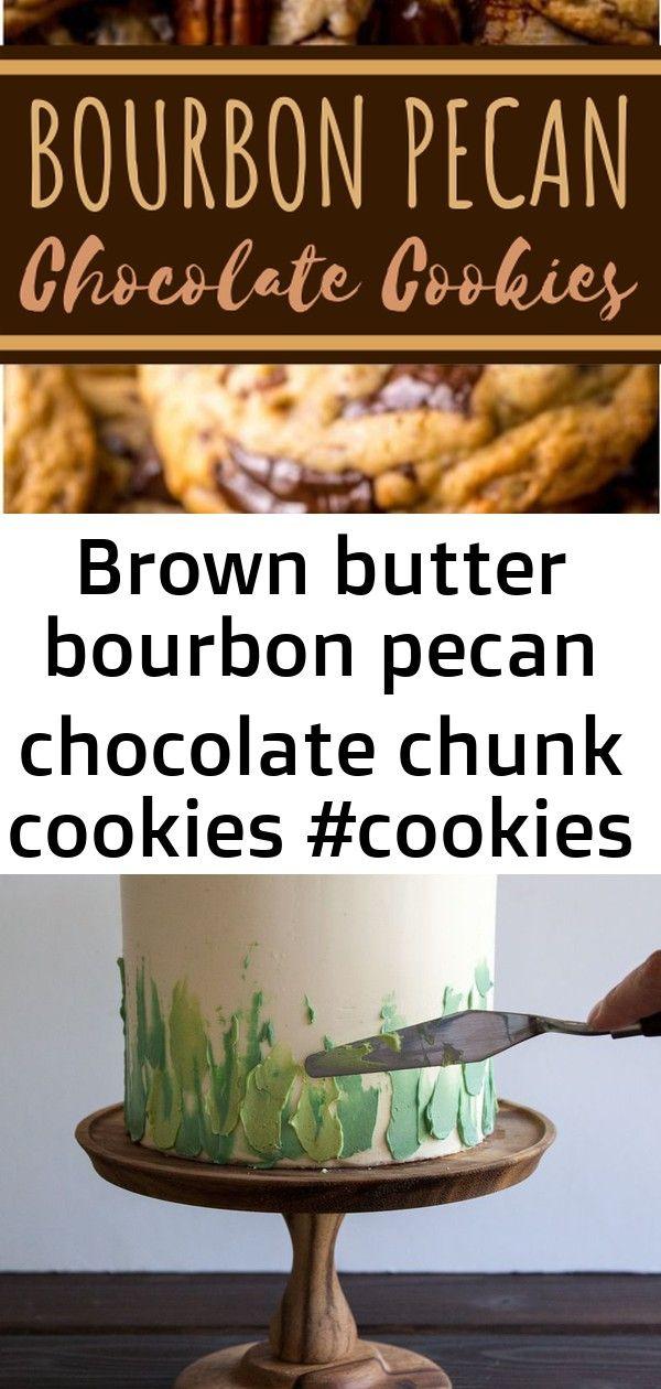 Brown butter bourbon pecan chocolate chunk cookies 1 Brown Butter Bourbon Pecan Chocolate Chunk Cookies swipe green buttercream to form grassm These gluten free Chocolate...