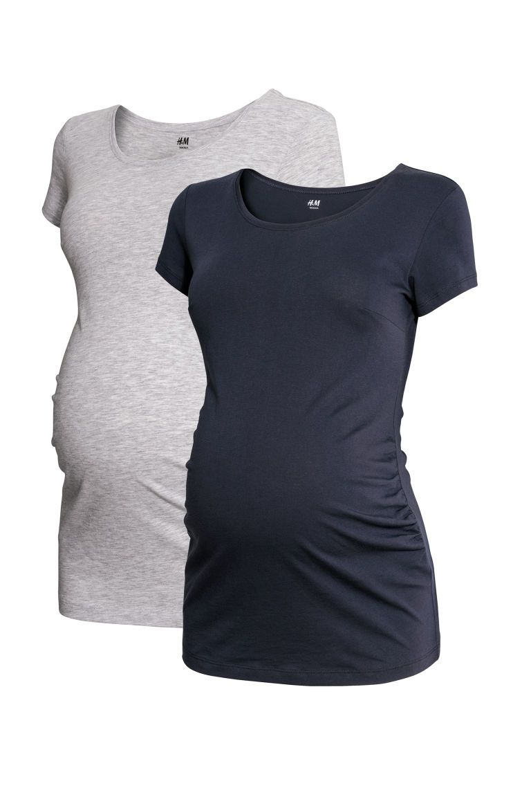 Bhome Maternity Shirt Short Sleeve Pregnancy Tshirt Side Ruched Tee Top