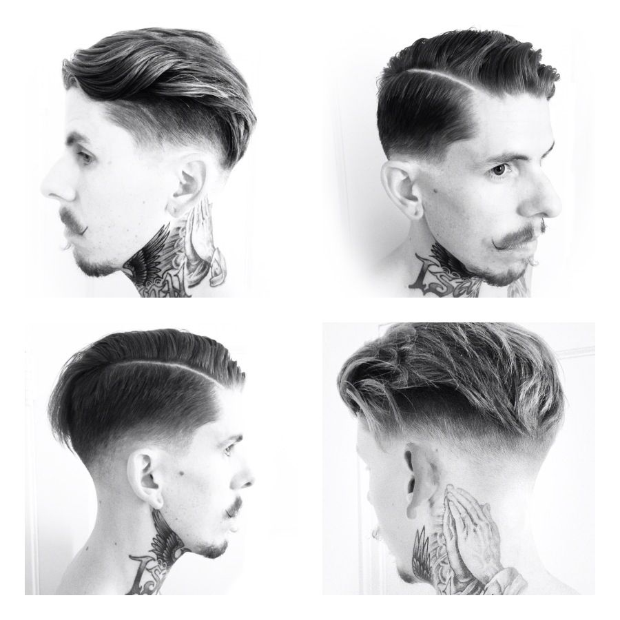 A modern classic haircut with a side part by joel torres instagram
